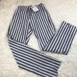 Brandy Melville Striped Tilden Pants NWT